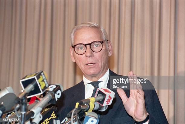 Chairperson of Union Carbide Warren Anderson upon his return from India where he had been arrested for Union Carbide's role/ownership of the...