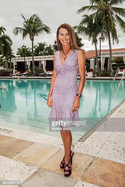 Chairperson Polo for a Purpose benefiting the Leukemia Lymphoma Society PJ Rizvi at International Polo Club Palm Beach on January 16 2017 in...