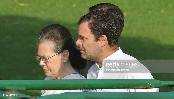Chairperson Sonia Gandhi and Congress President Rahul Gandhi arrive to pay tribute to India's first Prime Minister Jawaharlal Nehru on his 55th death...