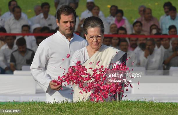 Chairperson Sonia Gandhi and Congress President Rahul Gandhi pay tribute to India's first Prime Minister Jawaharlal Nehru on his 55th death...