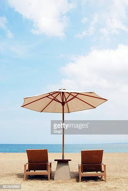 2 Chairs 1 Shade 1 Beach