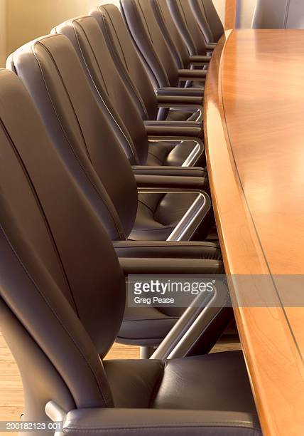 Chairs and table in conference room