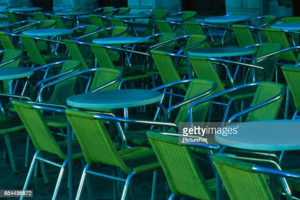 Chairs and Tables in Cafe