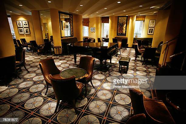 Chairs and tables line the American Bar at the Savoy Hotel on December 6 2007 in London Some of the fixtures and fittings are to be auctioned before...