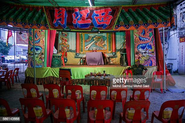 Chairs are left empty for ghosts during the Hungry Ghost Festival on August 5 2016 in Kuala Lumpur Malaysia The Hungry Ghost Festival falls on the...