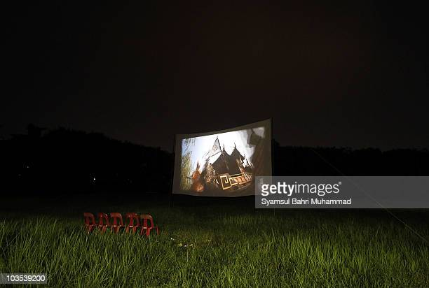 Chairs are left empty for ghosts to watch a film during the Chinese Hungry Ghost Festival on August 22 2010 in Shah Alam Malaysia The Hungry Ghost...