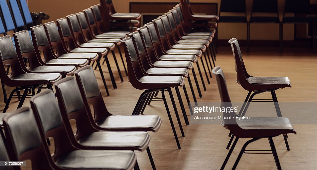 Chairs Arranged In Room : Stock Photo