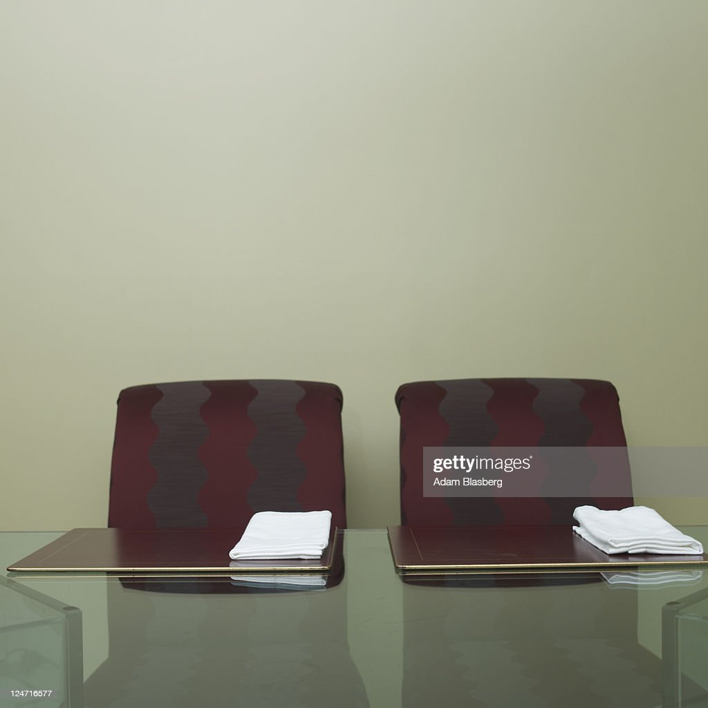 Chairs at dinner table : Stock Photo