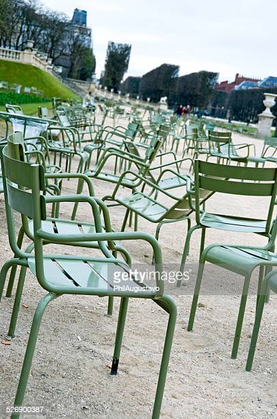 Chairs at Luxembourg Gardens in Paris FR