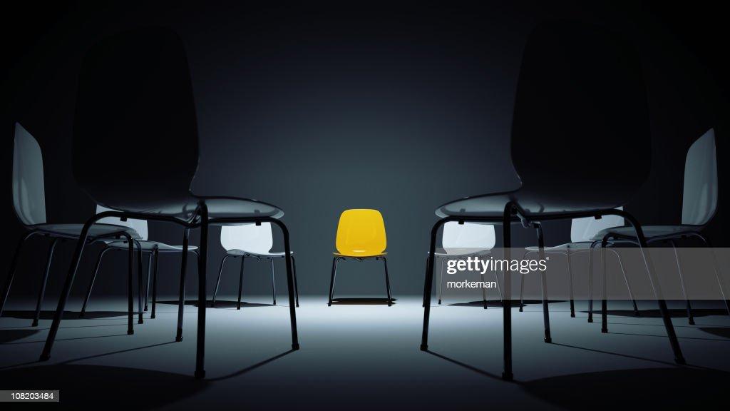 Cadeiras em um círculo : Foto de stock
