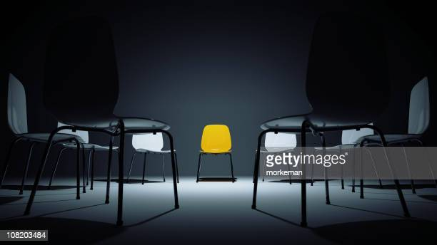 chairs in a circle - chair stock pictures, royalty-free photos & images