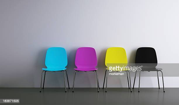 chairs in a row cmyk