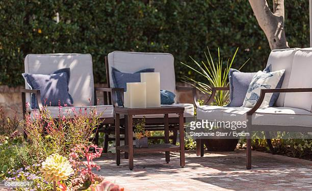 Chairs In Formal Garden