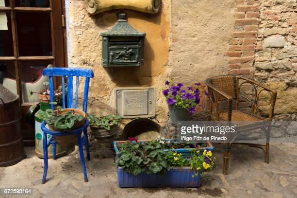 Chairs in Peratallada- Bajo Ampurdán- Catalonia- Spain