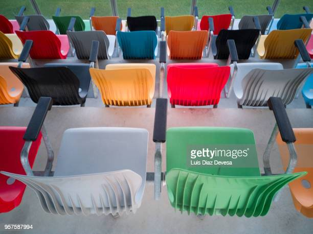 Chairs of multicolored