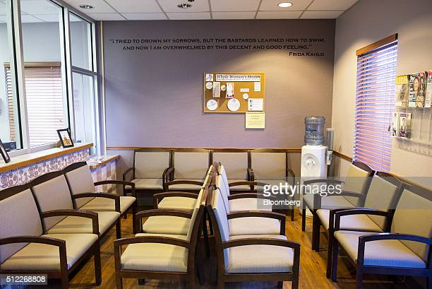 Chairs sit in the waiting area of the Whole Woman's Health abortion clinic in San Antonio Texas on Tuesday Feb 16 2016 The clinic's simplicity will...