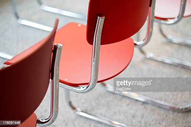 Chairs with chromed tube frames