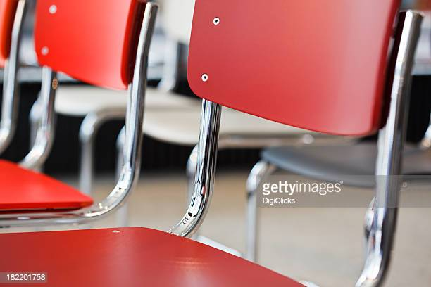 chairs with chromed tube frames - bauhaus art movement stock pictures, royalty-free photos & images