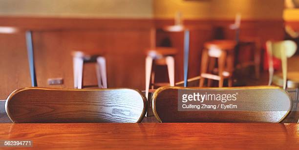 Chairs With Table In Restaurant