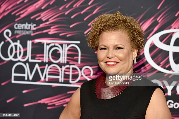 Chairwoman and CEO of BET Networks Debra Lee attends the 2015 Soul Train Music Awards at the Orleans Arena on November 6 2015 in Las Vegas Nevada