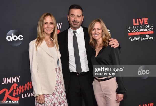Chairwoman of Disney Television Studios and ABC Entertainment Dana Walden US television host Jimmy Kimmel and ABC Entertainment President Karey Burke...
