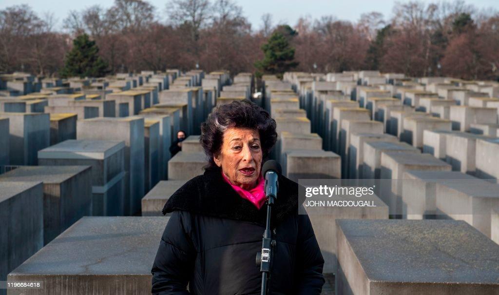 GERMANY-HISTORY-HOLOCAUST-MEMORIAL : News Photo