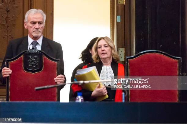 Chairwoman of the court Laurence Massart pictured during a session of the trial for the terrorist attack at the Jewish Museum in Brussels at the...