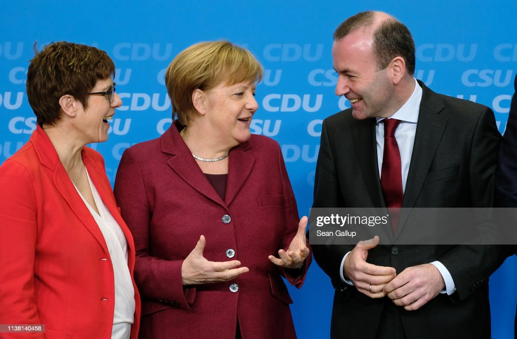 DEU: CDU And CSU Approve Joint Policy Platform For European Elections