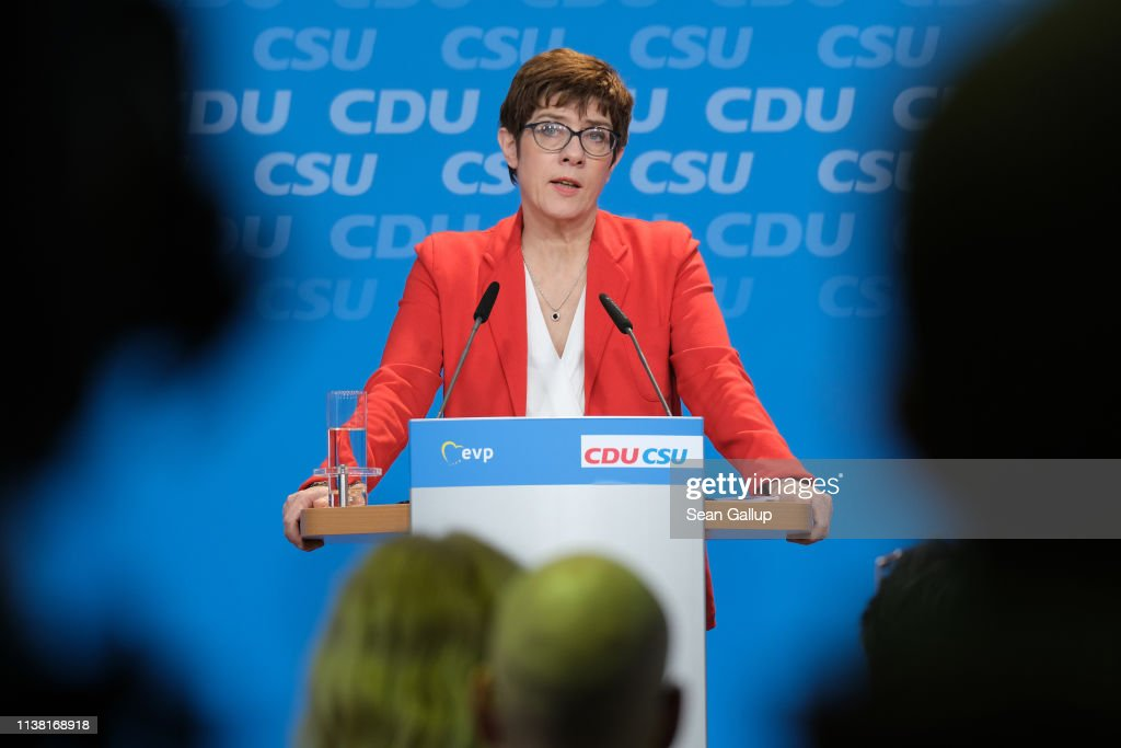 CDU And CSU Approve Joint Policy Platform For European Elections : News Photo