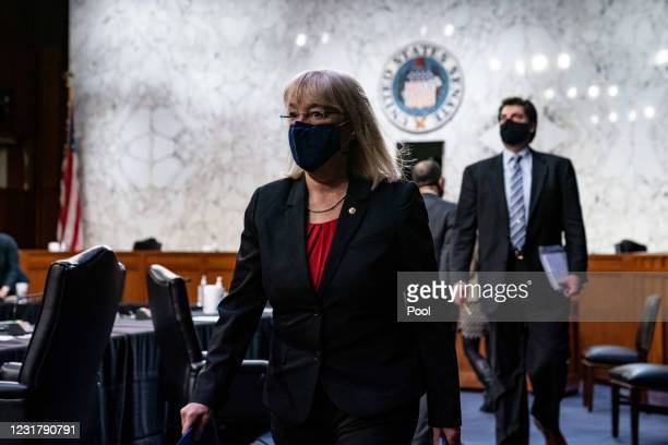 Chairwoman Patty Murray, D-Wash., leaves following the end of a hearing with the Senate Committee on Health, Education, Labor, and Pensions, on the...