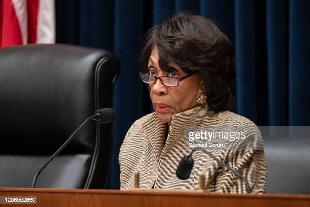 Chairwoman Rep. Maxine Waters questions former members of the Wells Fargo's Board of Directors Elizabeth Duke and James Quigley during a House...
