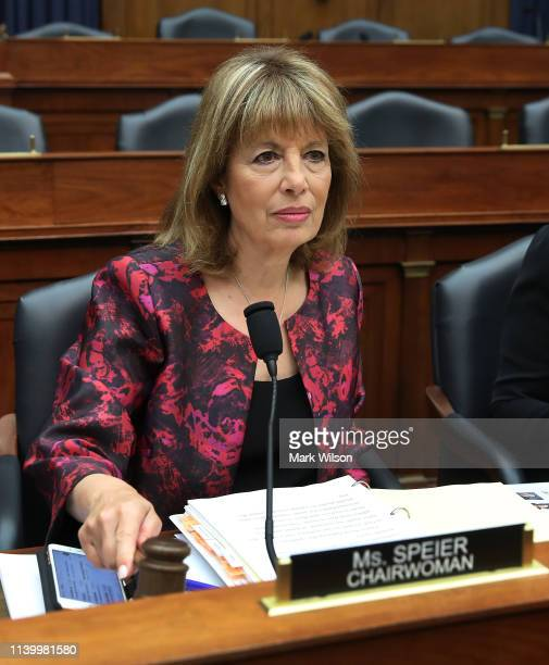 Chairwomen Jackie Speier participates in a House Armed Services Committee hearing which is examining the role of the commander of prosecutions for...