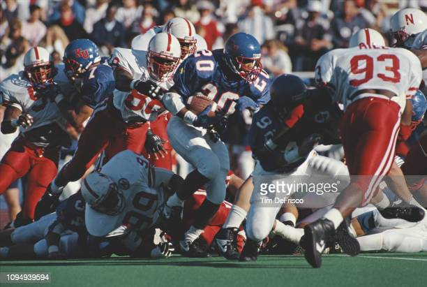 Chaka Johnson Running Back for the University of Kansas Jayhawks during the NCAA Big 8 Conference college football game against the University of...