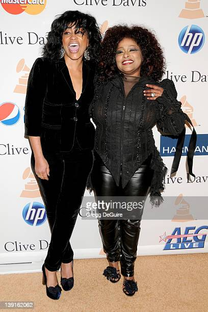 Chaka Khan and Miki Howard arrive at the Clive Davis and The Recording Acedemy's Annual PreGrammy Gala held at the Beverly Hilton Hotel on February...