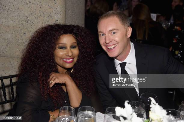 Chaka Khan and Stuart Vevers attend the Lincoln Center Fashion Gala - An Evening Honoring Coach at Lincoln Center Theater on November 29, 2018 in New...