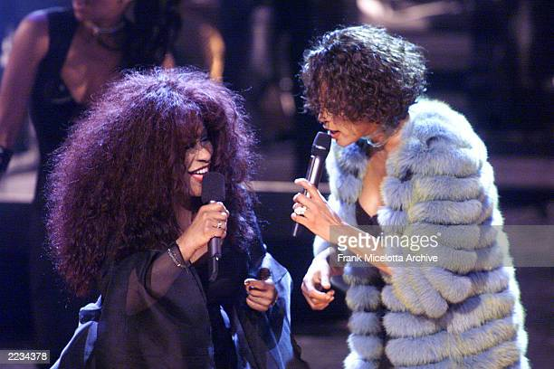 Chaka Khan and Whitney Houston perform during the finale of the VH1 DIVAS LIVE '99 at the Beacon Theatre in New York on Tuesday April 13 Other...