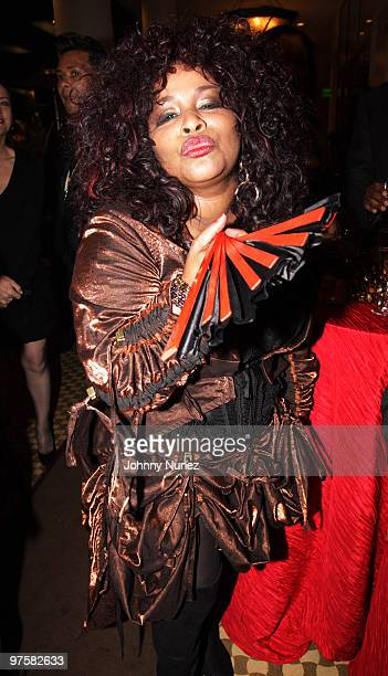 Chaka Khan attends 11th Annual Uniting Nations Awards viewing and dinner after party at the Beverly Hilton hotel on March 7 2010 in Beverly Hills...