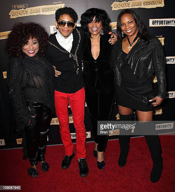Chaka Khan Brandon Howard Mikki Howard and Mary Brown attend 7th annual Roots jam session at The Music Box @ Fonda on February 12 2011 in Hollywood...