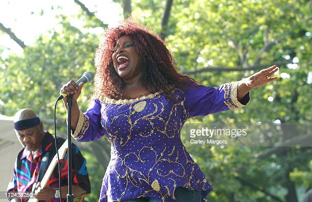 Chaka Khan during Chaka Khan and Indira Khan at 2003 SummerStage at Central Park SummerStage, Rumsey Playfield in New York City, New York, United...