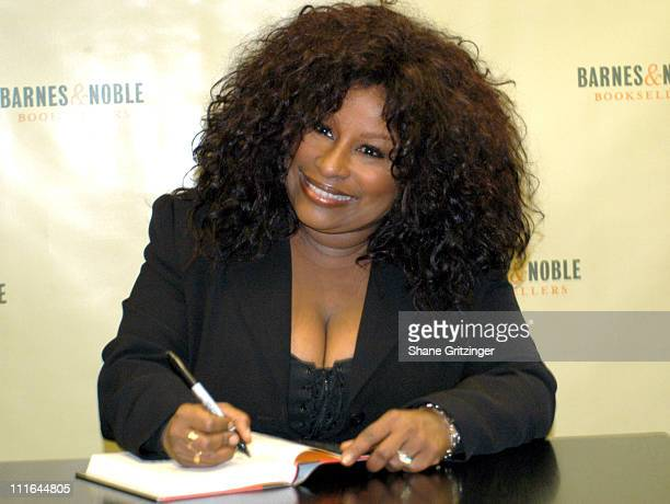 Chaka Khan during Chaka Khan Signs Copies of Her New Book 'Through the Fire' at Barnes and Noble Rockefeller Center in New York City New York United...