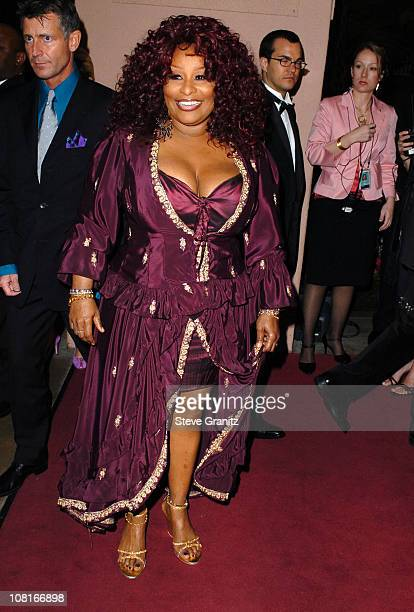Chaka Khan during Clive Davis' 2005 PreGRAMMY Awards Party Arrivals at Beverly Hills Hotel in Beverly Hills California United States