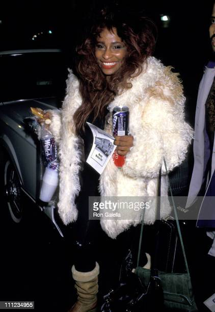 Chaka Khan during New York Musicians To Benefit Homeless Children at Madison Square Garden in New York City New York United States