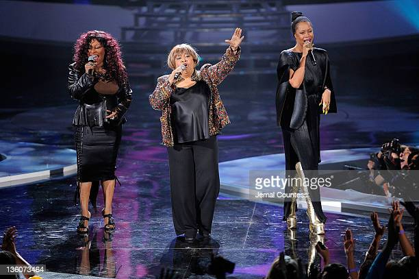 Chaka Khan Mavis Staples and Erykah Badu perform onstage during VH1 Divas Celebrates Soul at Hammerstein Ballroom on December 18 2011 in New York City