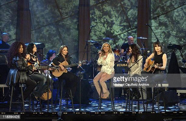 Chaka Khan Michelle Branch Gloria Estefan Lee Ann Womack Jennifer Love Hewitt and Chrissie Hynde perform at 'Women Rock Girls Guitars' airing on the...