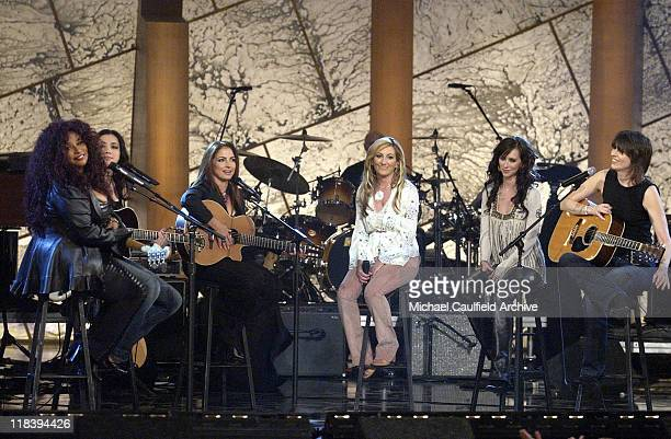 Chaka Khan Michelle Branch Gloria Estefan Lee Ann Womack Jennifer Love Hewitt and Chrissie Hynde perform at Women Rock Girls Guitars airing on the...