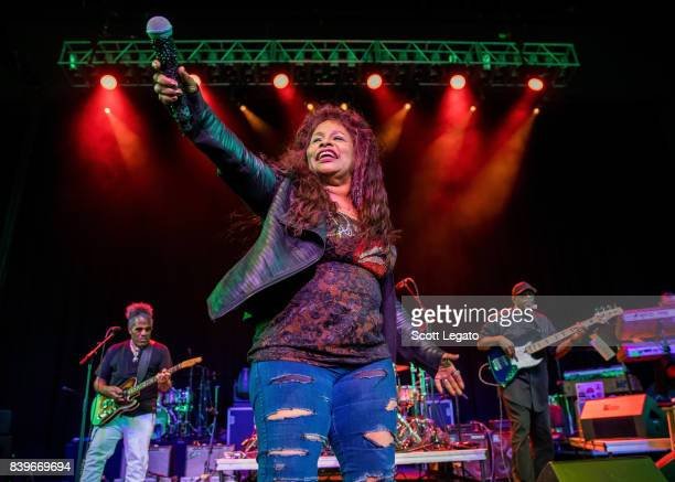Chaka Khan performs at Michigan Lottery Amphitheatre on August 26 2017 in Sterling Heights Michigan