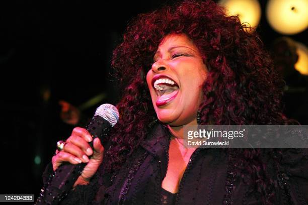 Chaka Khan performs at the Hugo Boss afterparty for Fashion's Night Out on September 8 2011 at the PHD Rooftop Lounge at Dream Downtown in New York...