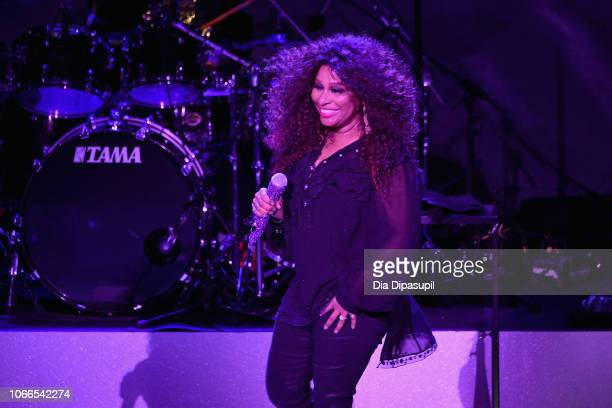 Chaka Khan performs at the Lincoln Center Fashion Gala An Evening Honoring Coach at Lincoln Center Theater on November 29 2018 in New York City