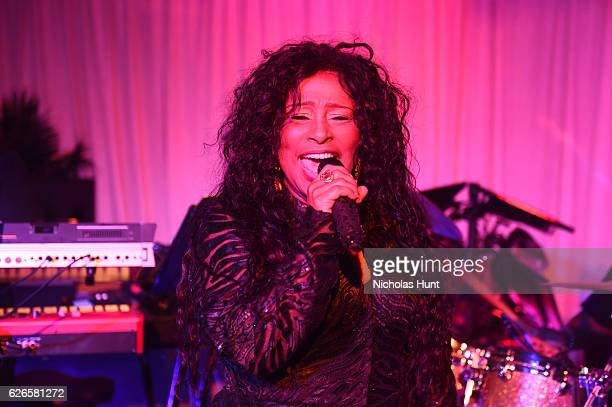 Chaka Khan performs at White Cube Soho Beach House Party To Celebrate Anselm Kiefer During Art Basel Miami 2016 at Soho Beach House on November 29...