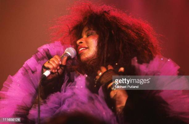Chaka Khan performs on stage at the Prince's Trust Rock Gala Royal Albert Hall London 18th July 1990
